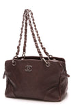 Chanel Quilted Wild Stitch Bowler Bag Brown Pebble Calfskin