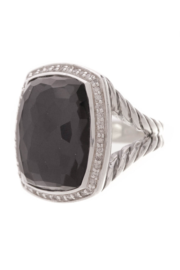 David Yurman Black Orchid Albion Ring Silver Size 6.5