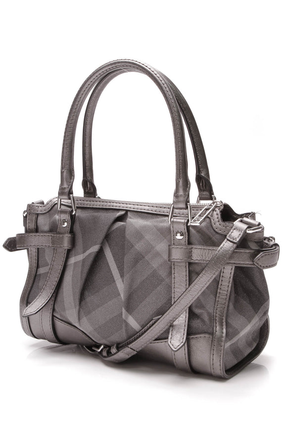 Burberry Pilgrim Satchel Bag Shimmer Check