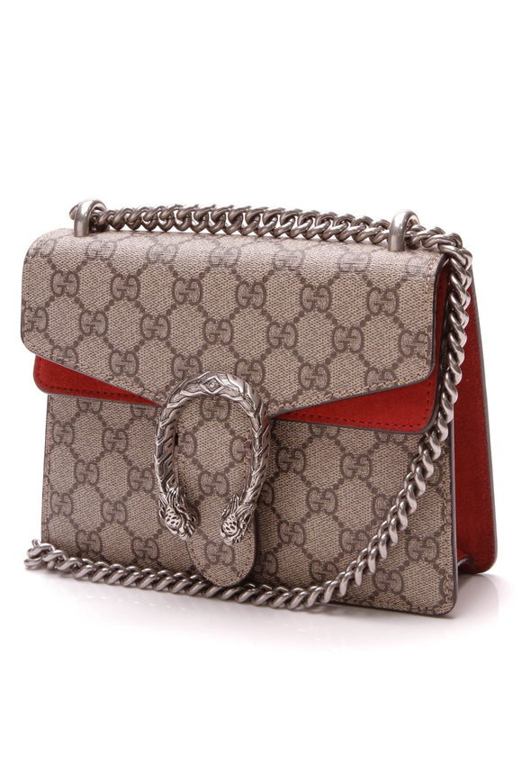 Gucci Mini Dionysus Bag Supreme Canvas Beige Red
