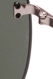 Chanel Shield Runway Sunglasses Purple Silver