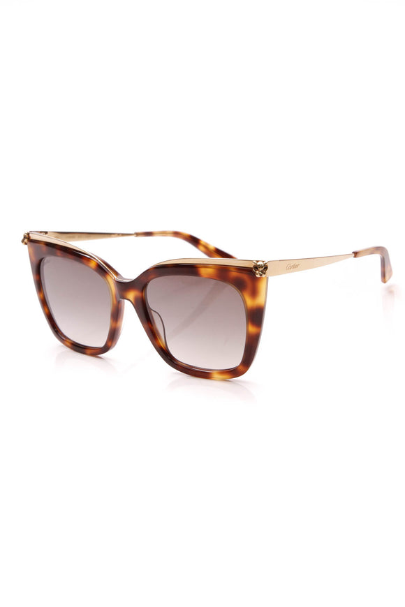 Cartier Panthere de Cartier Sunglasses Tortoise Brown Gold