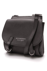 Burberry Bridle Crossbody Bag Black Leather