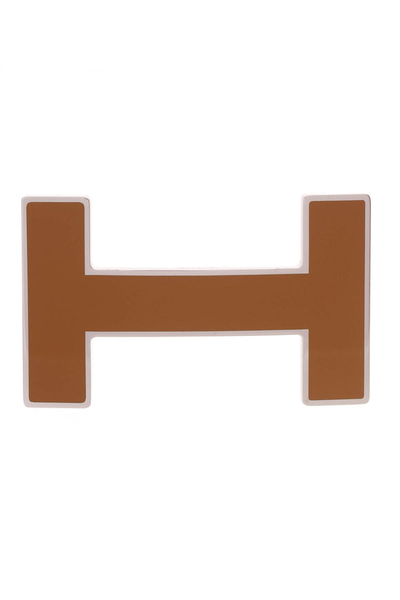 Hermes H Quizz Belt Buckle Brown