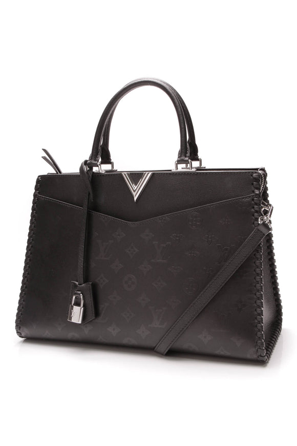 Louis Vuitton Very Zipped Tote Bag Black