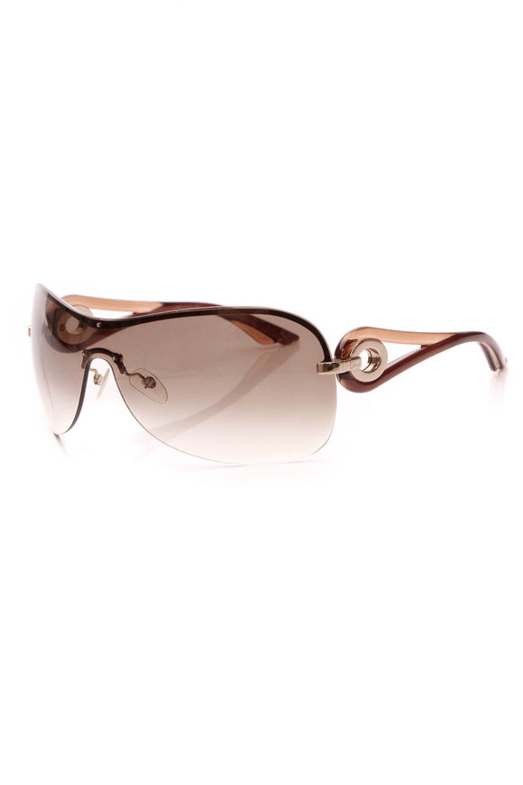 Christian Dior Volute 3 Shield Sunglasses Brown