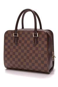 Louis Vuitton Triana Bag Damier Ebene Brown