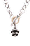 David Yurman Jewel Bead Toggle Necklace Black Onyx