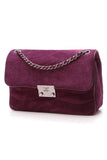 Chanel Medium Flap Bag Purple Suede