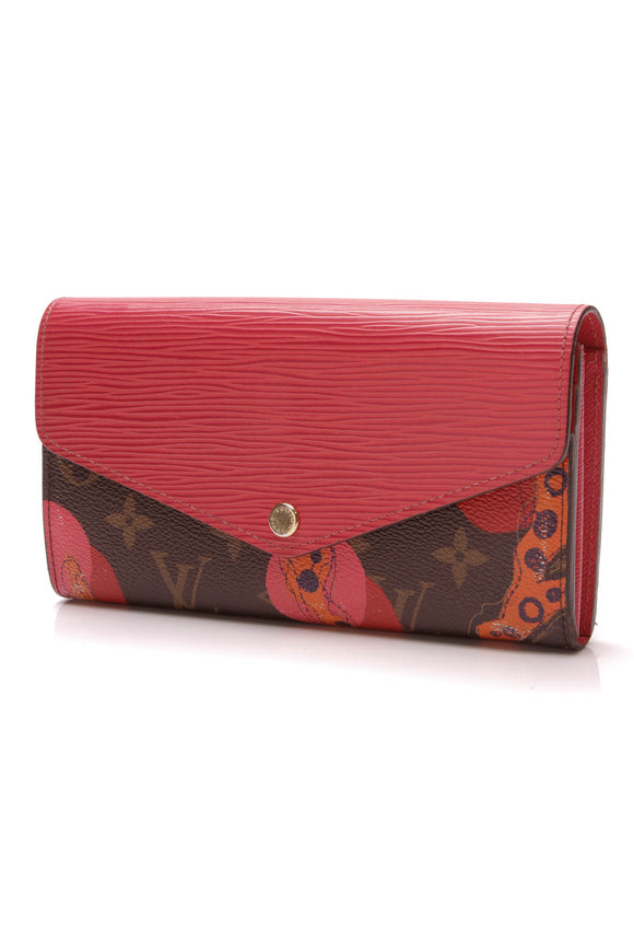 Louis Vuitton Ramages Sarah Wallet Monogram Epi Red Brown