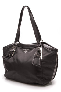 Prada Zipper Tote Bag Nylon Black