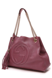 f0997bd91a23 Gucci Soho Chain Tote Bag - Pink – Couture USA