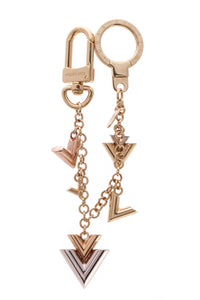 Louis Vuitton Jingle V Chain Bag Charm Silver Gold