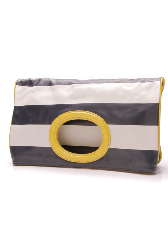Kate Spade Fold Over Clutch Blue Yellow