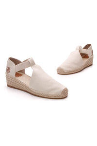 Tory Burch Catalina Espadrille Wedges Natural Size 10.5