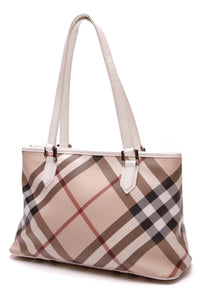 Burberry Regent Tote Bag Supernova Check Beige