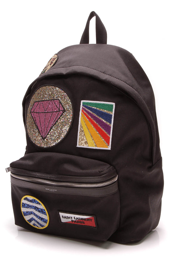 Yves Saint Laurent YSL City Multi-Patch Backpack Black