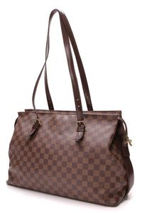 Louis Vuitton Chelsea Tote Bag Damier Ebene Brown