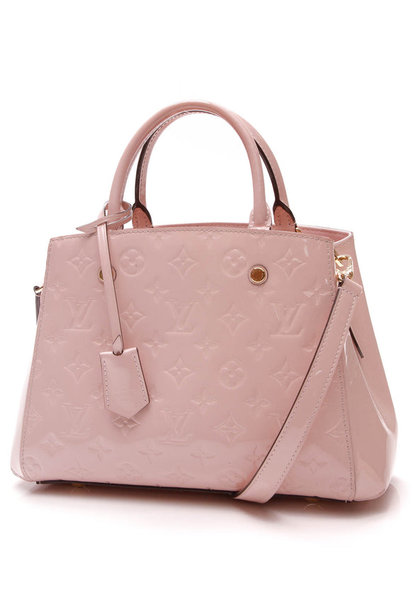 Louis Vuitton Vernis Montaigne BB Bag Rose Ballerine Pink