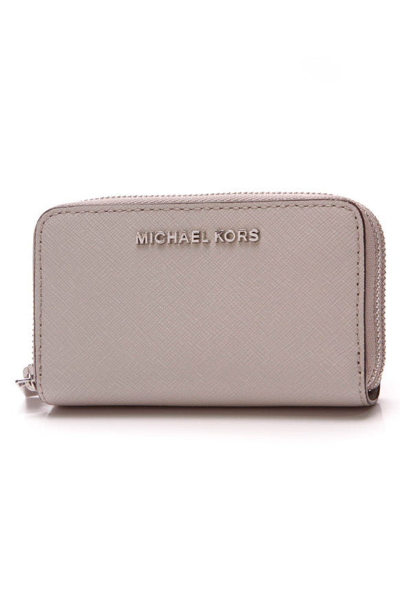 Michael Kors Jet Set Double Zip Cardholder Gray