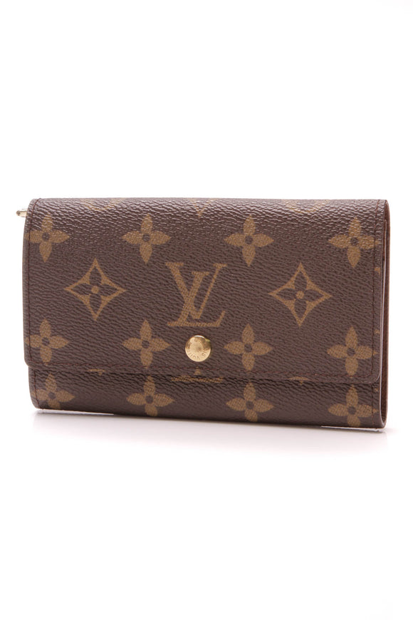 Louis Vuitton Vintage Porte-Monnaie Zip Change Purse Wallet Monogram Brown