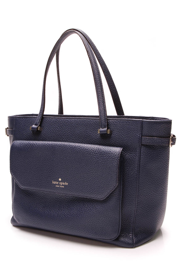 Kate Spade Boxwood Road Alainna Tote Bag French Navy Blue