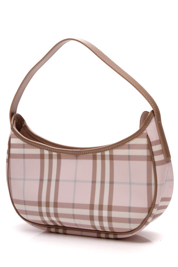 Burberry Crescent Shoulder Bag Pink Nova Check