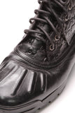 Gucci Lace-Up Men's Boots Black Guccissima Size 12.5