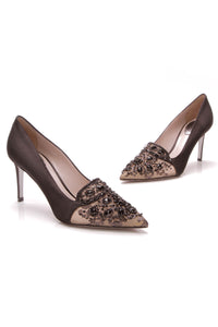 Rene Caovilla Pizzo Embellished Pumps Black Size 37.5