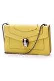 Bvlgari Serpenti Forever Shoulder Bag Lime Yellow Green