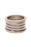 Bvlgari B.Zero1 4 Band Ring White Gold Size 5.75