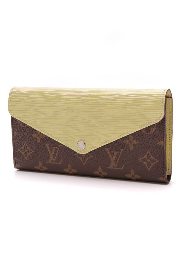 Louis Vuitton Epi Marie-Lou Long Wallet Citron Monogram Yellow Brown