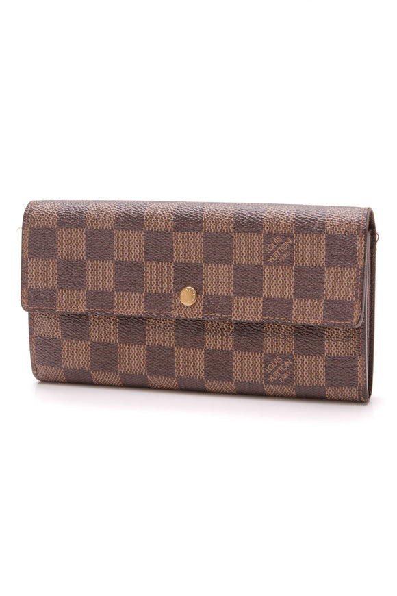 Louis Vuitton Sarah Wallet Damier Ebene Brown
