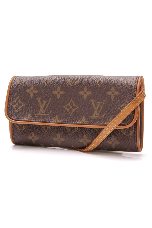 Louis Vuitton Vintage Twin PM Pochette Bag Monogram Brown