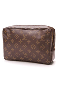 Louis Vuitton Vintage Trousse Toilette 23 Toiletry Case Monogram Canvas Brown