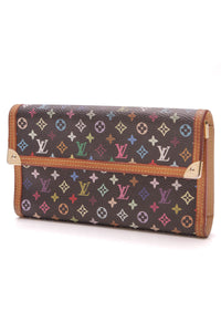 Louis Vuitton Porte Tresor International Wallet Black Multicolore