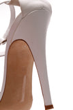 Manolo Blahnik Strappy Buckle Pumps White Size 39