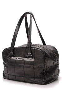Chanel Square Quilt Bowler Bag Black