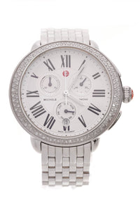 Michele Serein Diamond Watch Silver
