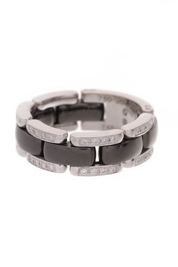Chanel Ultra Band Ring Black Size 7.5