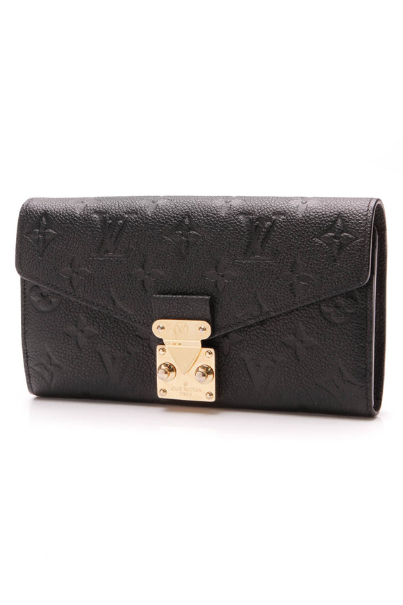 Louis Vuitton Empreinte Metis Wallet Black
