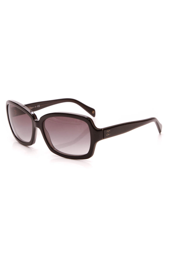Chanel Square CC Sunglasses Black