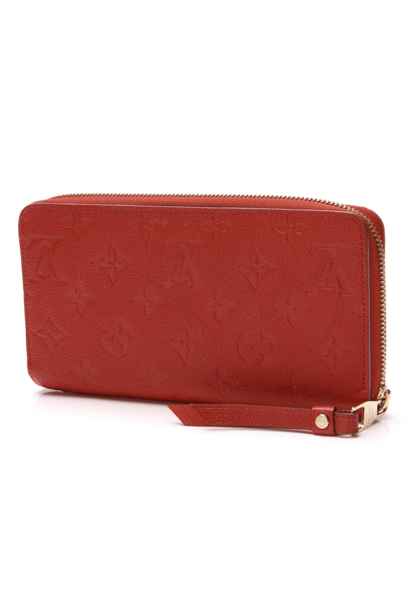Louis Vuitton Empreinte Zippy Wallet Orient Orange