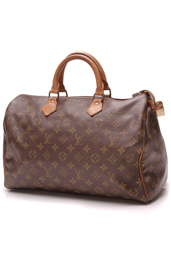 Louis Vuitton Vintage Speedy 35 Bag Monogram Brown