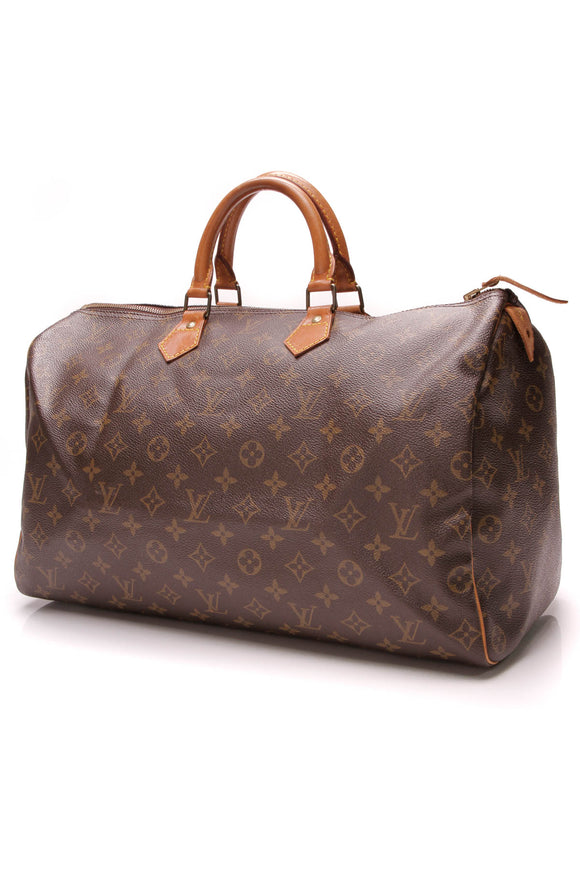 Louis Vuitton Vintage Speedy 40 Bag Monogram Brown