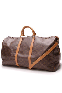 Louis Vuitton Vintage Keepall Bandouliere 60 Travel Bag Monogram Brown