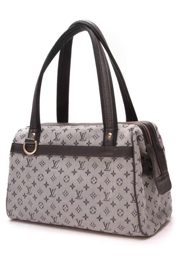 Louis Vuitton Josephine PM Bag Mini Lin Canvas Navy