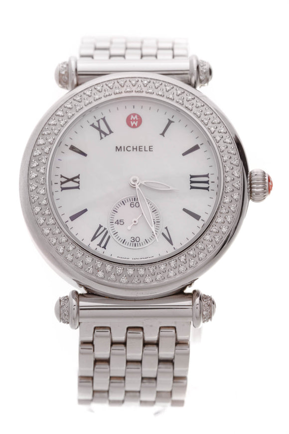 Michele Diamond Caber Watch Steel