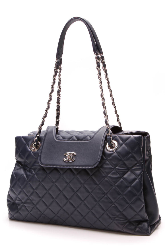 Chanel x3 Accordion Tote Bag Blue