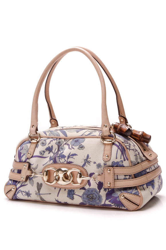 Gucci Blooms Wave Boston Bag Blue
